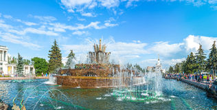 Water Fountain at VDNKh Stock Image