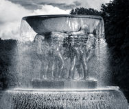 Water fountain - The Vigeland Park, Oslo, Norway Stock Images