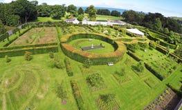 Walled Garden in Ireland. Walled Garden at Glenarm County Antrim in Northern  Ireland stock photography