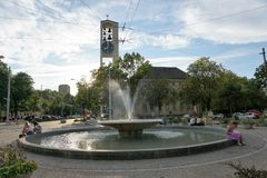 Water, Fountain, Water Feature, Town Square stock image