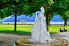Water, Fountain, Water Feature, Tree stock photo
