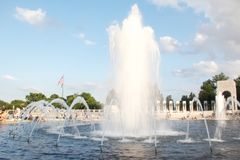 Water fountain at world war memorial Royalty Free Stock Images