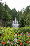 Water fountains, Butchart Gardens, Victoria, Canada Stock Image