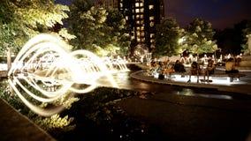 Water Fountains A Columbus Circle Royalty Free Stock Photos