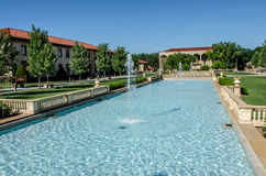 Water fountains. Located at Unity Villiage Lees Summit Missouri stock image