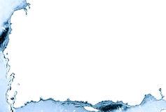 Water Frame. Border made from blue splashing water. Nice background Royalty Free Stock Image