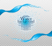 Water frame. Stock Image