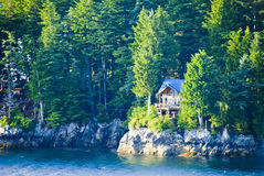 Water Front Cabin Royalty Free Stock Photography