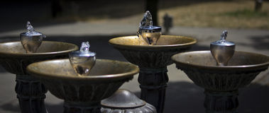 Water Front Fountain Royalty Free Stock Photography