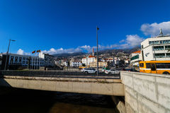 Water Front of Funchal, Madeira, Portugal Royalty Free Stock Images