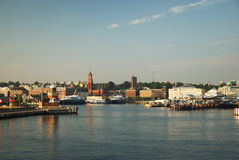 Water front of Helsingborg Royalty Free Stock Photography