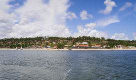 Water front homes on Brazil Coastline Stock Photography