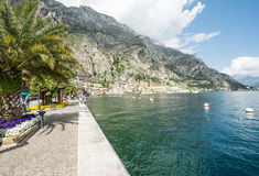 Water Front in Limone Sul Garda Stock Photo