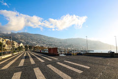 Water Front of the Port of Funchal, Madeira, Portugal Stock Image