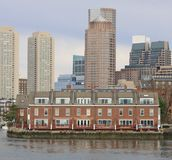 Water front residence. Living on the Boston Water Front Stock Photo
