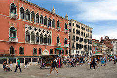 Water front Riva degli Schiavoni in Venice - Italy. Royalty Free Stock Photography