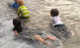 Water fun for kids Stock Photos