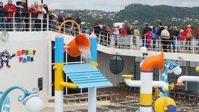 Water game cruise ship stock video