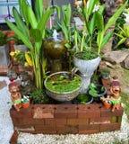 Water in garden Stock Photo