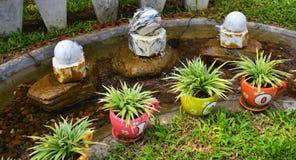Water in garden Stock Image