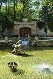 The Water Garden at the Castle of Hellbrunn in Salzburg in Austria with its many `trick` fountains Royalty Free Stock Photos