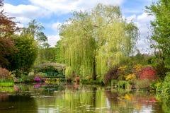 The water garden of Claude Monet in spring stock image