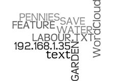 Water Garden Feature How To Save On The Pennies And Labourword Cloud Royalty Free Stock Photography