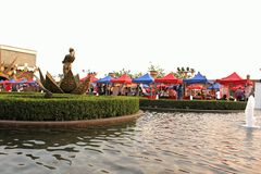 Water garden inside Kingdom Of Dreams Royalty Free Stock Photo