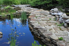 Water Garden with Stone Path Stock Images