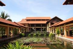 Water garden at Vietnam resort Royalty Free Stock Images