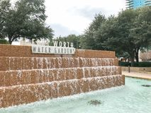 Water Gardens in downtown Fort Worth, Texas stock images