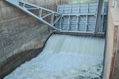 Water gate of Dam stock photos