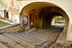 Water gate on Fortress Hill Cetatuia in Cluj Napoca Stock Photo