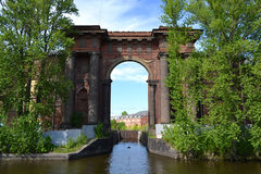 Water Gate of New Holland island Royalty Free Stock Images