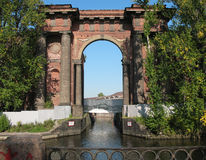 Water Gate of New Holland island. St.Petersburg Royalty Free Stock Image