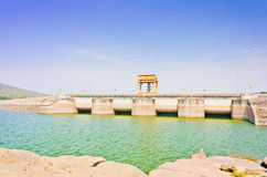 Water gate in Ubolrat dam, Thailand Stock Photo