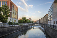 Water gateway in Berlin. Royalty Free Stock Images