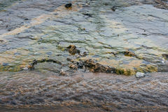 Water on geothermal surface Stock Photo