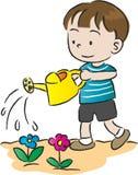 Water gevende kinderen Stock Foto's