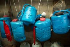 Water gevende potten Royalty-vrije Stock Foto