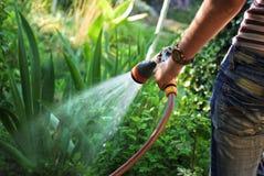 Water gevende tuin Royalty-vrije Stock Foto