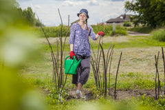 Water gevende tuin Royalty-vrije Stock Afbeeldingen