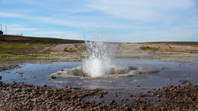 Water geysir at Hveravellir geothermal area in Iceland Stock Image