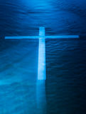 Water Ghost Cross Stock Photos