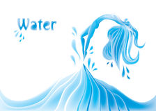 Water girl Stock Image