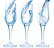 Water in glass Royalty Free Stock Images