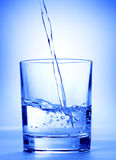 Water in a glass Royalty Free Stock Photos