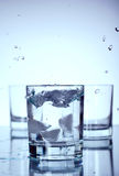 Water in a glass Royalty Free Stock Image