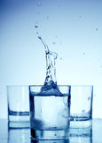 Water in a glass Stock Photography