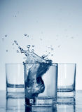 Water in a glass royalty free stock photo